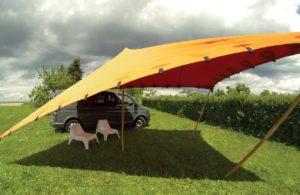 Stretchzelt als Wohnmobil Vorzelt - Camper Van