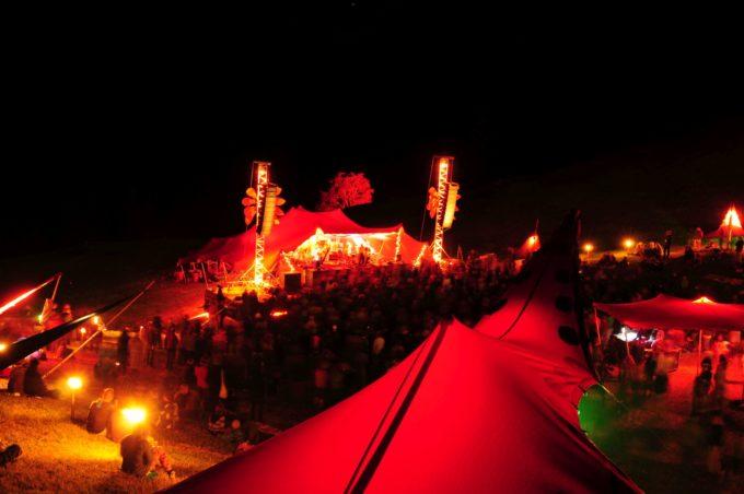 Textile Bauten fuer Festival und Konzert