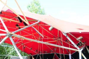 Textile Bauten auf dem Fusion Festival